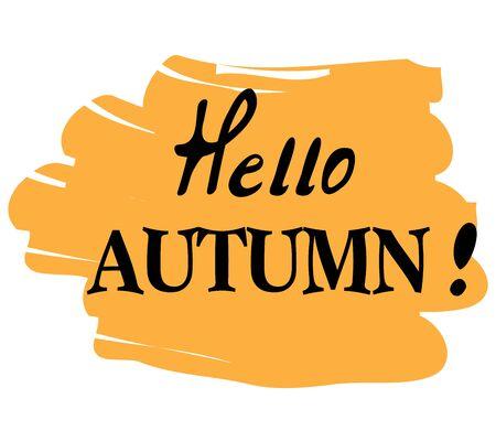 vector illustration of hello autumn background