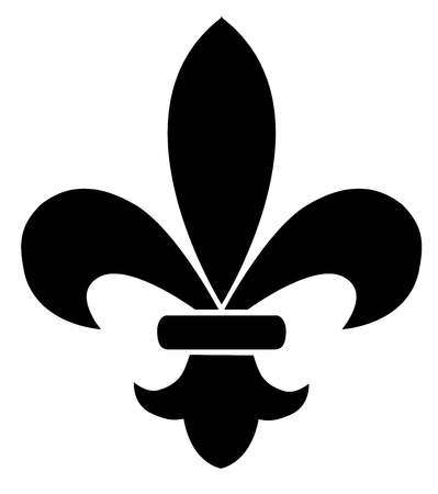 vector illustration of fleur de lis flower Illusztráció