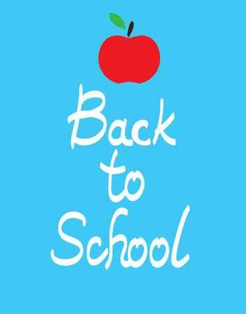 vector illustration back to school apple. Illustration