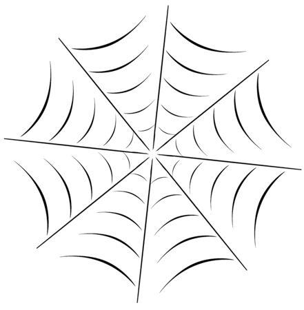 vector illustration of a spider web background