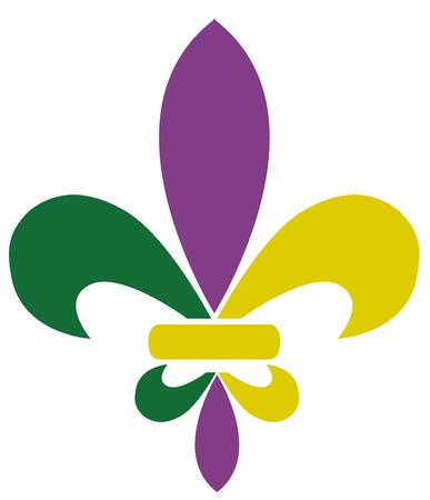 Vector illustration of mardi gras fleur de lis Illustration