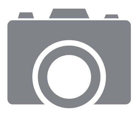 Vector illustration of camera icon in trendy flat style isolated on white background. Camera symbol for your web site design.
