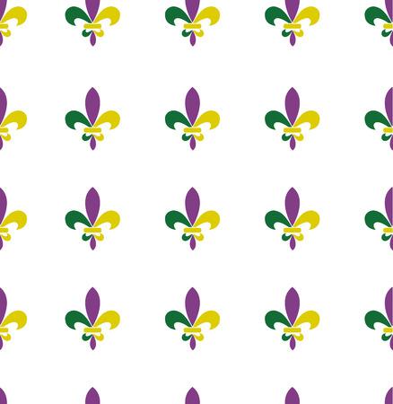 vector illustration of seamless fleur de lis mardi gras pattern