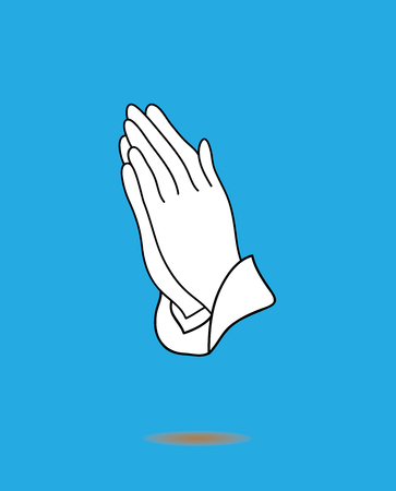 vector illustration of praying hands icon isolated on white background Vettoriali