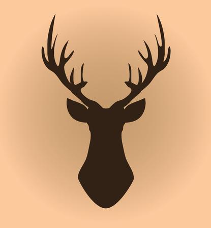 Deer head silhouette vector illustration. Stock Vector - 99940241