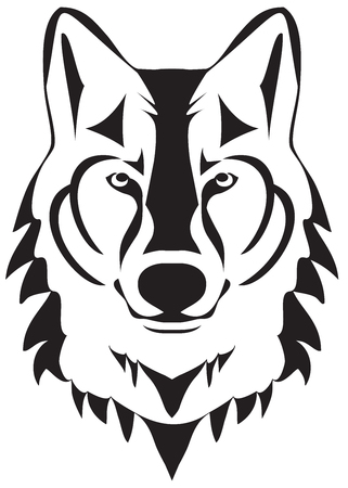 vector illustration of a wolf head silhouette Vector Illustration