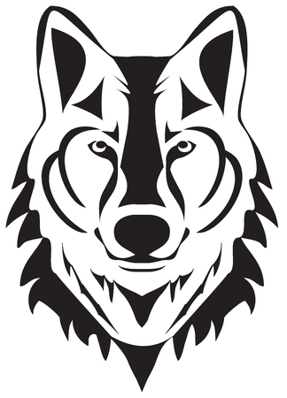 vector illustration of a wolf head silhouette