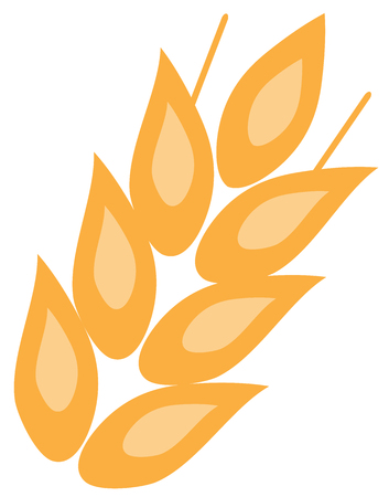 vector illustration of ear of wheat icon