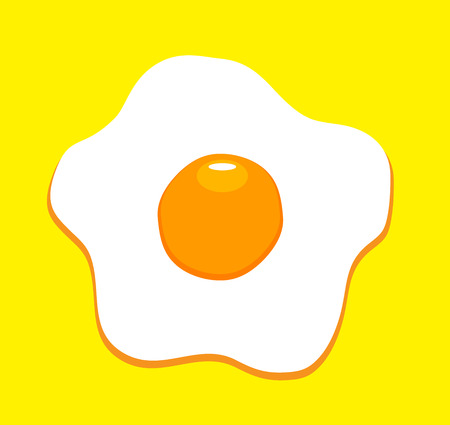 vector illustration of a fried egg isolated