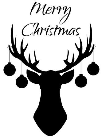 vector illustration of Christmas reindeer. Christmas background.