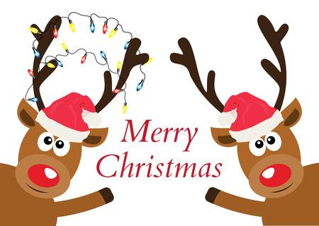 vector illustration of Christmas reindeer. Christmas background. Illustration