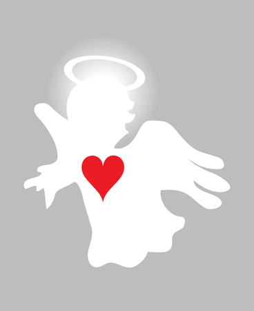 vector illustration of an angel. Christmas background. Holiday background.
