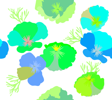 vector illustration of seamless abstract floral background.