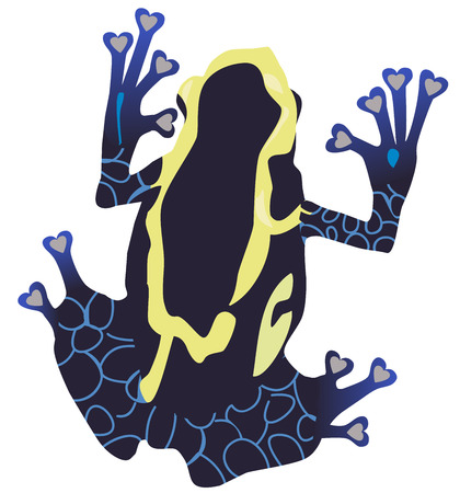 vector illustration of a poison dart frog silhouette.