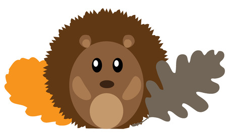 Woodland animal cartoon funny hedgehog. Иллюстрация