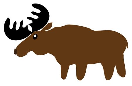 Woodland animal cartoon funny moose.