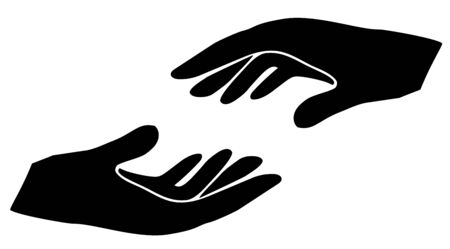 Vector hands silhouette.