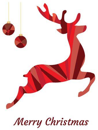 vector illustration of mosaic reindeer. Stock Illustratie