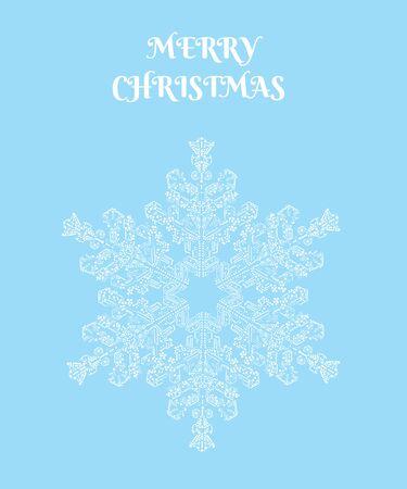 vector illustration of a snowflake. Christmas card.