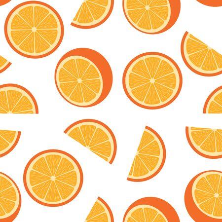 Seamless orange on white
