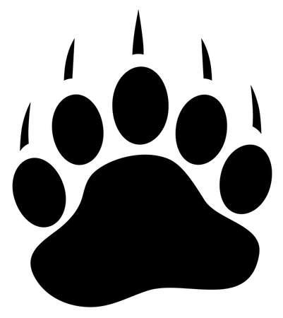 vector illustration of a bear paw print. Vektoros illusztráció
