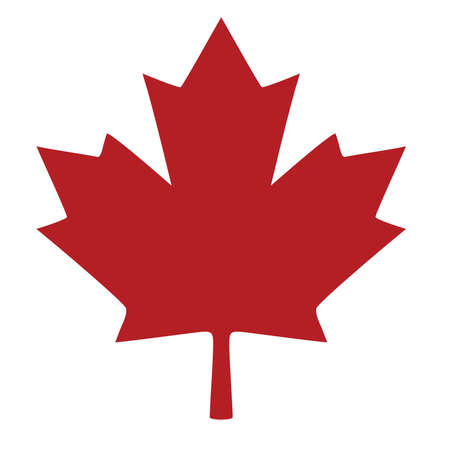 vector illustration of a maple leaf silhouette. maple leaf logo, icon.
