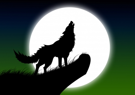 moon red wolf