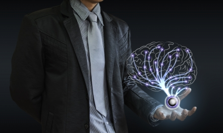 businessman brain Stock Photo