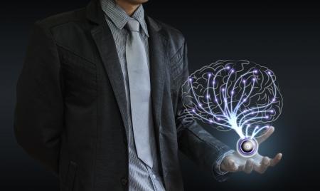 zakenman hersenen Stockfoto