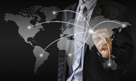 Business map world Stock fotó