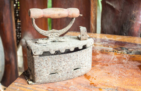 Old charcoal irons photo