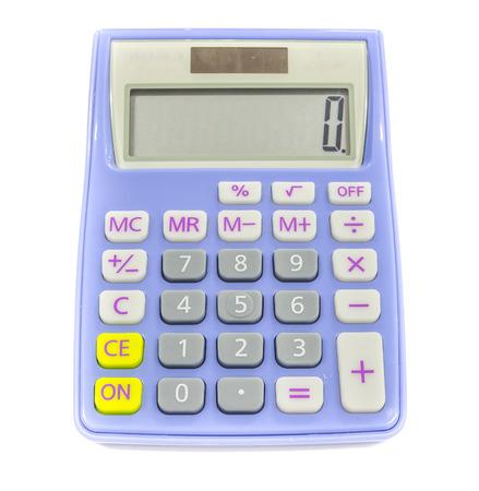Blue calculator photo