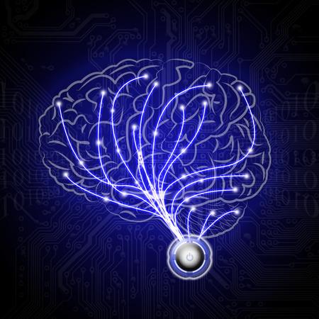 abstract brains human  Stock fotó