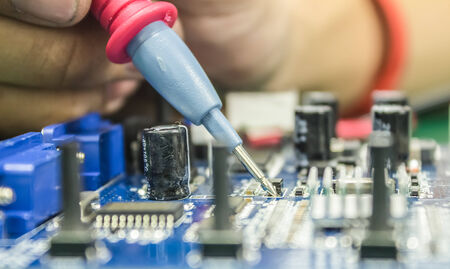 metering: Repair of computers and electronic metering parameters Stock Photo