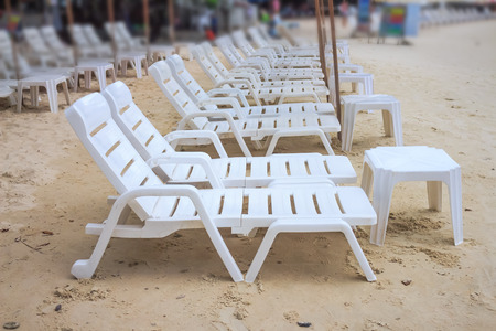 Chair relaxing on the beach photo