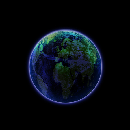 Blue Planet Isolated - Elements of this image furnished by NASA photo