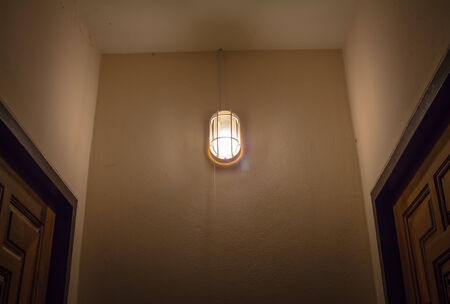 home lighting: Recessed lighting in the home Stock Photo