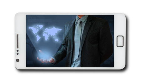 of computer graphics: Business concept on mobile phones