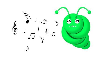 caterpillar: cartoon caterpillar singing