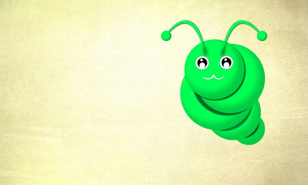 add text: Green worm with the background to add text.