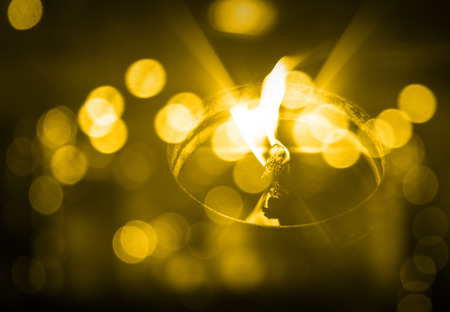 naphtha: candle, oil Stock Photo