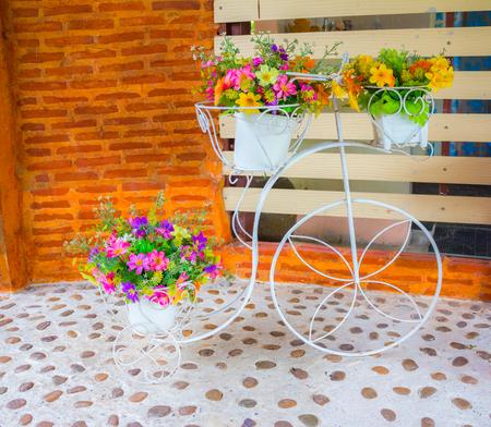 mini farm: Mini Flower Pot Stock Photo