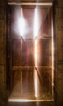 Door lighting old Stock Photo