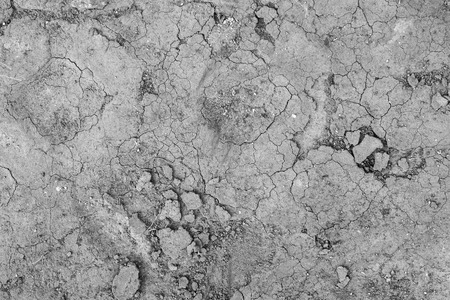 rupture: Gray cracked concrete texture background, close up