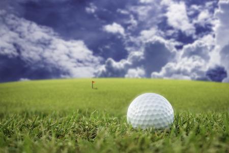 golfball: golf-ball on course soft focus