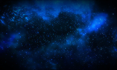Beautiful blue galaxy background
