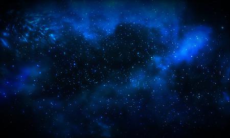 starfield: Beautiful blue galaxy background