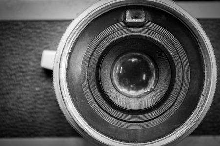 old camera retouching Vintage Stockfoto