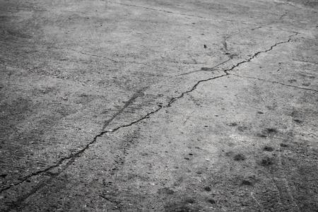 streak lightning: Ground cracking concrete