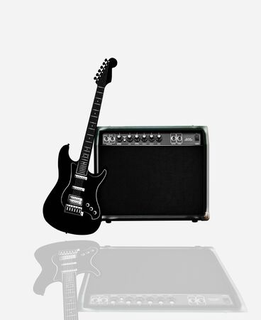 amp: guitar amp musician Stock Photo
